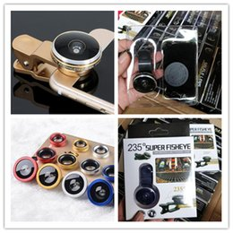 Wholesale Super Wide Lens Clip - Super Fisheye Lens Wide Angle Lens 235 Degree 19X Macro Phone Lens Universal Clip Camera for iPhone 7 8 Samsung s8 s8 plus Best