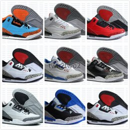 Wholesale Buy Leather Shoe - New 3 3s Basketball Shoes Sports Replicas Authentic Man Sneakers Buy Fashion Men Women Shoes 3s III Shoes Sale
