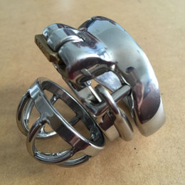 Wholesale Male Bondage Sm - Doctor Mona Lisa - The New Male Annular Chastity Cage Device Belt with Barbed Ring Small Size Stainless Steel Kit Bondage SM Toys