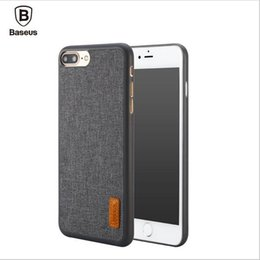 Wholesale Stylish Mobile Cover Wholesale - Baseus Phone Bag Case For 7   7 Plus Artistical Simple Stylish Grain Fabric Protective Mobile Phone Back Cover Case