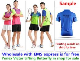 Deutschland Großhandels-EMS für freies, Textdrucken für freies, neues Badmintonkinderkinderhemd kleidet Tischtennis T-Sporthemdkleidung 2004 Versorgung