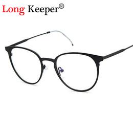 4a4d08a33125b Atacado-Long Keeper Retro Rodada Óculos de Armação Homens Mulheres Ultra  Light Vintage Óculos de Armação Lente Simples oculos de grau femininos  quadros de ...