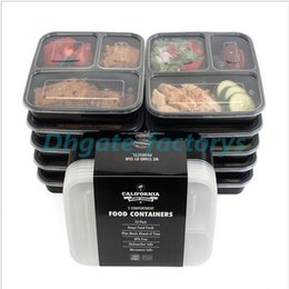 Wholesale NEW Compartment Reusable Plastic Food Storage Containers with Lids Microwave and Dishwasher Safe Bento Lunch Box Set of