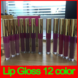 Wholesale Dc Color - Hot Newest Dermacol Long Lasting Liquid Lipstick 12 colors matte lip gloss DC lipstick Lip Cosmetics free shipping