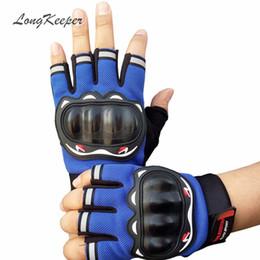 Wholesale Latex Work Gloves Wholesale - Wholesale- LongKeeper Mens Tactical Gloves Latex Protection Fingerless Gloves Women Men Half Finger Work Out Mittens Gants Femme SXJ4
