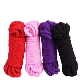 Wholesale Bondage Rope Black - 10M adult sex toys rope provocative alternative supplies cotton tied rope fetish sex restraint bondage free shipping
