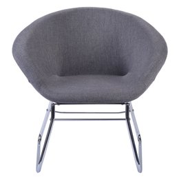 Wholesale Fabric Arm Chairs - New Modern Gray Accent Chair Leisure Arm Sofa Lounge Living Room Home Furniture