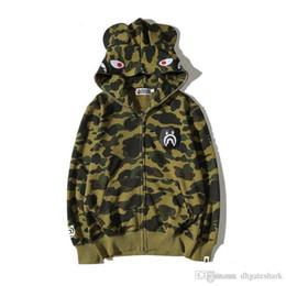 Wholesale Men Jacket Hood Cotton - 2017 Men's Tide Brand Camouflage Cartoon Printing Hoodie Sweater Men's Casual Hood Thin Hoodie Jacket Tops Sizes M-2XL