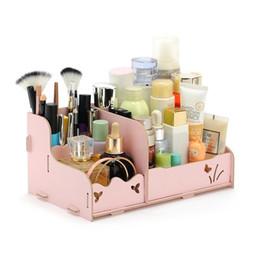 Wholesale Eco Stationery - Desktop Organizer Stationery Storage Box Sundries Cosmetic Holder For Desktop Home Office Decoration DIY Wood Case ZA3135