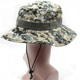Wholesale Camouflage Hunting Hat - Mountaineering Hat Sun Caps Fishing Hiking Hunting Travel Hat Wood Land Plateau Camouflage Fishing Hiking Outdoor Sport Cap