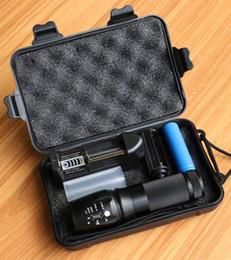 Wholesale Xm L2 Led - New Powerful X800 LED Flashligh CREE XM-L2 4000 Lumens LED Torch Zoomable Flashlight LED Lamp + Battery +Charger 878 Flashlight