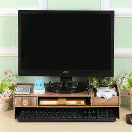 Wholesale Finish Business - DIY computer monitor to increase the desktop office storage box creative neck care device; business card finishing induction