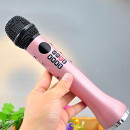 Wholesale High Power Bluetooth - 9W High Power Magic Karaoke Microphone Speaker KTV Player Portable Wireless Bluetooth Microphone speaker Record Music