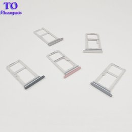 galaxy sim cards Promo Codes - Dual Single S7 G930f SIM Card Reader Holder Sim Tray For Samsung Galaxy S7 Edge G935F Sim Card Slot Tray Holder