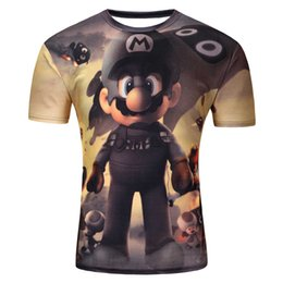 Wholesale Marie S - Wholesale- Mens T Shirts Super Marie Mario Short Sleeve Originality Fashion Casual O Neck Men Shirt Brand Clothing