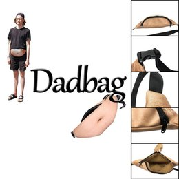 Wholesale Lifelike Men Toys - Free Shipping 3D printed Dadbag Lifelike Muscle Fat Belly Pattern Nolvelty PU Pockets 1L Capacity Gadget for Boy Man