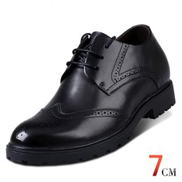 Wholesale Men Height Elevator Shoes - Fashion Elevator Shoes Calf Leather Mens Invisible Height Increasing Dress Formal Wedding Shoes for Man Get Taller 7cm Instantly