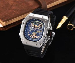 Wholesale Digital Branding - Top Quality Casual Fashion Hollow Watches men Luxury brand Army Skull sport quartz watch