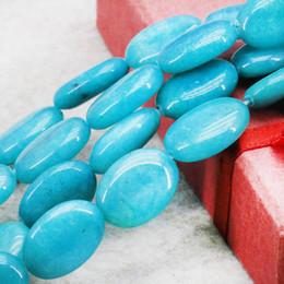 Wholesale Green Amazonite - Accessories Blue Amazonite Stones Jasper Jade Ellipse Loose DIY Beads Jewelry Making Design 13x18mm 15inch For Women Girl Gifts