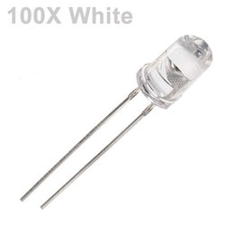 Wholesale light emitted diodes - Wholesale- 100Pcs White LED 5mm Diode Round Ultra Bright LED Light Emitting Diode Lamp Water Clear Through Hole Diode Bulb LED Light Bead