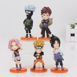 Wholesale Set Kakashi - 5pcs set Naruto Shippuden Naruto Sasuke Sakura Kakashi Gaara PVC Figures Collectible Model Toys