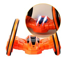 Wholesale Big Cool Cars - 360-degree Tumbling RC Car Remote Control With LED Light Cool Electric Vehicle Toy Funny good quality