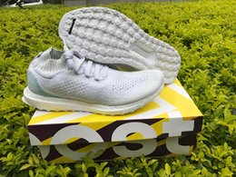 Wholesale Winter Boots Size 13 - 2017 Parley X Ultra Boost Top Real Boost Factory Shoes Size 4-13 Ocean Bb4073 White Uncaged Limited Version Running Shoes With Original Box