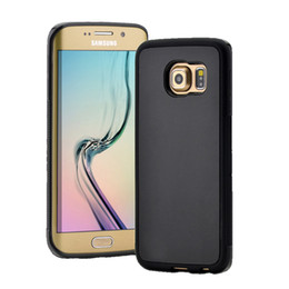 Wholesale Design Cellphone Cases - New Design S7 Antigravity Nanometer Adsorption Cellphone Case Multifunctional Phone Shell Black And White Silicone Case For Samsung S7 S6