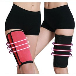 Wholesale Sweat Sauna Belt - Wholesale- 2pcs Neoprene Slimming Thigh Belt Sauna Leg Sweating Gym Sports Weight Loss Body Shapers Fitnesss Gym Belt s2