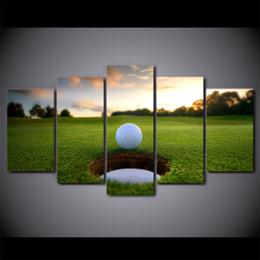 2019 спортивные фотографии бесплатно HD напечатаны 5 шт. холст искусство поле для гольфа досуг спорт живопись настенные панно для гостиной Современный Бесплатная доставка скидка спортивные фотографии бесплатно