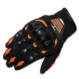 Wholesale Racing Protective Gear - New Quality Motorcycle Racing Protective Gears Gloves Green Orange Red Colors Motoqueiro Luva Motorbike Motocross Moto Guantes
