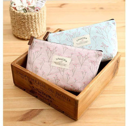 Wholesale Flower Pencil Cases - Women New Flower Floral Pencil Pen Case Cosmetic Makeup Tool Bag Storage Pouch Purse By DHL #71746 DHL free shipping