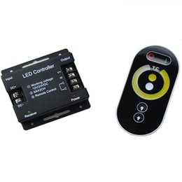 Wholesale Temperature Controller Wireless - RF Wireless Remote led Controllers color temperature warm white white Dimmer brightness adjustable Single Color LED Light Strip DC 12V 24V
