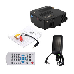 Wholesale Full Vga - Wholesale-Free shipping UNIC UC28+ LED Mini Portable video Projector for Home Theater with HDMI  VGA SD USB pico video projector Full HD