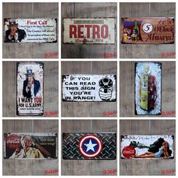 Wholesale Decorative Wall Plaques - 15*30CM Metal Tin Sign Pub Club Gallery Metal Posters Tips Vintage Plaque Wall Posters New Vintage Decorative Plates Metal Wall Art