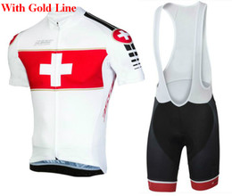 Wholesale Wrinkle Pads - 2018 Switzerland Team pro Cycling Jersey BIKE SHORTS SET Summer MENS Mtb Bicycle Clothing Ropa Maillot Ciclismo with gel pad