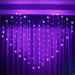 Wholesale Christmas Lights Ceiling Decorations - Wholesale-2M 34SMD 16P Butterfly LED Curtain String Lights Lamp New Year Garden Christmas Wedding Party Ceiling Decoration 220V