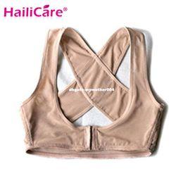 Wholesale Corrector Support Brace Belt - Adjustable Women Back Posture Corrector Brace Back Shoulder Support Therapy Belt Posture Correction BeltHealth Care Black S L XL
