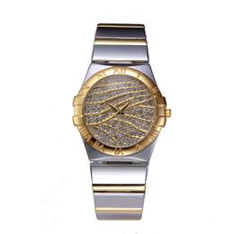 Wholesale Multi Crystal Women Watch - elegant Brand Luxury Crystal Gold Watches Women Fashion Bracelet Quartz Watch Diamond quartz-watch Relogio Feminino orologio donna