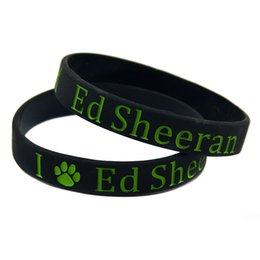 Wholesale Paw Music - Wholesale 100PCS Lot X Ed Sheeran With Paw Logo Silicone Wristband Bracelet For Music Fans Adult Size 2 Colours