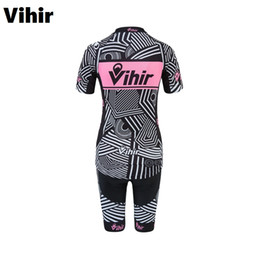 2017 bavettes cyclistes professionnelles Vihir Summer Short Sleeve imperméable à l'air rapide Dry Windproof Women Pro Cycling Jerseys Shorts Sets avec 3D Padded No Bib Shorts budget bavettes cyclistes professionnelles