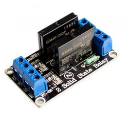 Wholesale 5v relay module for arduino - Free Shipping! Brand New 5v 2 Channel SSR G3MB-202P Solid State Relay Module For Arduino Fresh Original In Stock