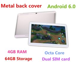 Wholesale Wholesale Wifi Tablets - 10.1 inch Metal case Tablet PC Android 6.0 Octa Core RAM 4GB ROM 64GB 2560X1600 IPS Dual sim card Phone Call Tablet PC GPS 3G bluetooth