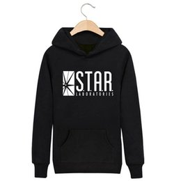 belt black star Promo Codes - Wholesale-The Flash DC Barry Allen Laboratories Star Labs Hoodie Mens Pullover Sweatshirt Heroes 2016 Male Clothes Arrow Moletom Masculino