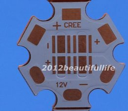 Wholesale Pcb Copper Plates - Wholesale- 20pcs 20mm Copper PCB Board Heatsink Base Plate For Cree XPG XTE XPE XPL Led