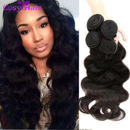 Wholesale 32 Hair Shedding - Unprocessed Virgin Peruvian Hair Extensions 6pcs lot Body Wave Hair Weaves Wet and Wavy Peruvian Human Hair Double Weft No Shedding
