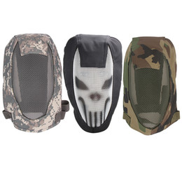 Wholesale Tactical Helmet Face Mask - Half Face Metal Mesh Tactical Mask Sport Helmet Outdoor Shooting Protection Hunting Paintball Strike Airsoft Fencing Masks