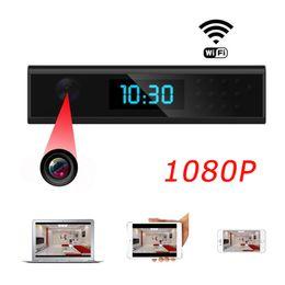 2019 despertador câmera wi-fi 1080 P HD Super Mini Câmera Wifi Relógio Despertador Câmera P2P Minúsculo Câmera de Vigilância De Segurança Da Câmera Mini DV DVR Gravador De Vídeo despertador câmera wi-fi barato