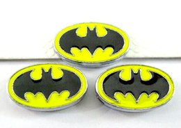 Wholesale batman charms - (20 , 50)PCS lot 8MM Batman Slide Charms DIY Alloy Accessories Fit For 8mm Wristband Keychains Fashion Jewelrys