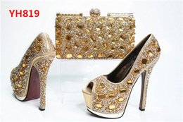 Wholesale Looking For Wedding - Wholesale Italian matching shoes and bags set good looking woman party shoes and bags with stones for party and wedding